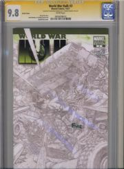 World War Hulk #3 Sketch Variant CGC 9.8 Signature Series Signed David Finch Marvel comic book